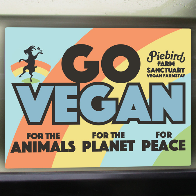 Go Vegan car magnet