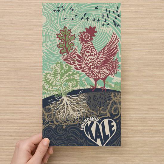 Kale seeds -- Vegetable art